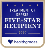 healthgrades 2020 Five-Star Treatment of Sepsis logo